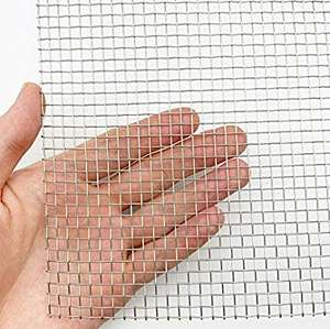 Stainless Steel Woven Wire Mesh Roll, Lembar Mesh, jendela Screen Mesh-5 Mesh 12