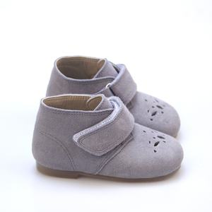 Smile Soft Real Cow Leather Oxford Newborn Kids Baby Shoes for Boys and Girls