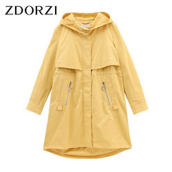 New design drawstring tooling coat long sleeve loose fashion