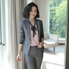 2020 New Style 2 Pieces Office Women Skirt Suits Ladies Office Wear Pant Suits Design