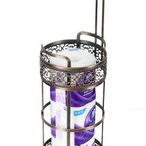 Over The Tank Hanging Toilet Tissue Paper Roll Holder and Reserve for Bathroom Storage