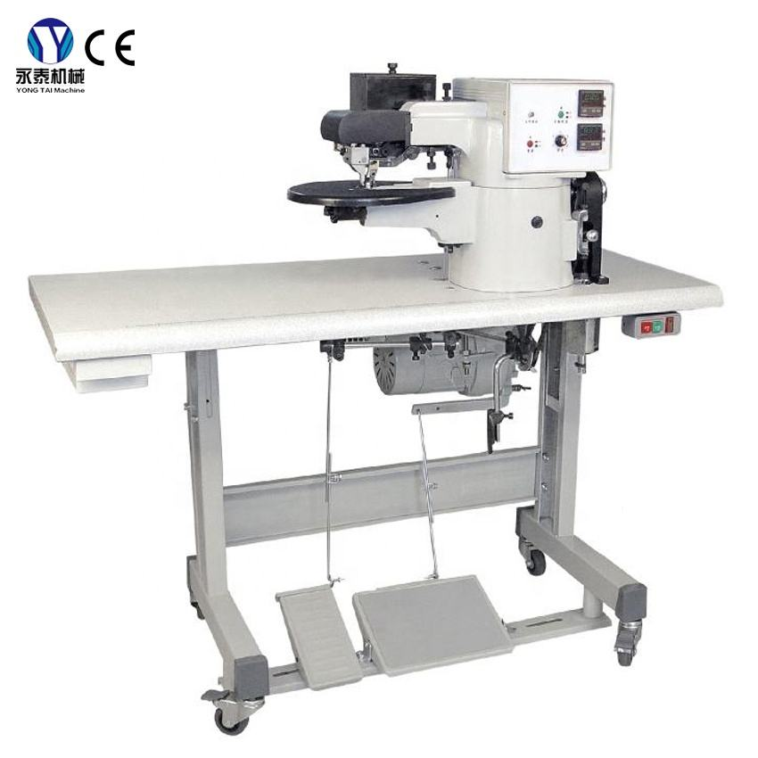 Automatic Adjust PVC PU Canvas Material Hot Cement Edge Folding Shoes Bag Leather Cell Phone Making Machine