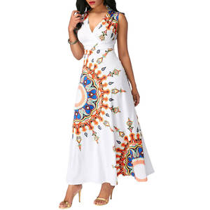 1202-MK11 Clothes manufacturer cheap wholesale African Dashiki designs print styles long maxi dresses for women