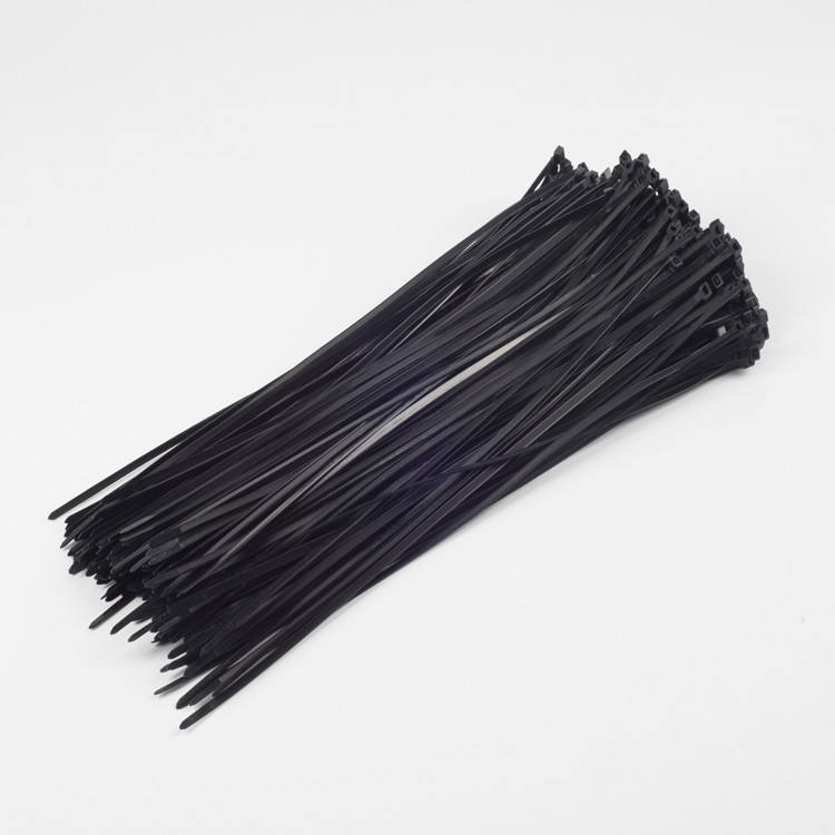 China plastic zip tie approved CE ROHS REACH UV resist Black color tie wrap/Selflocking nylon 66 cable ties