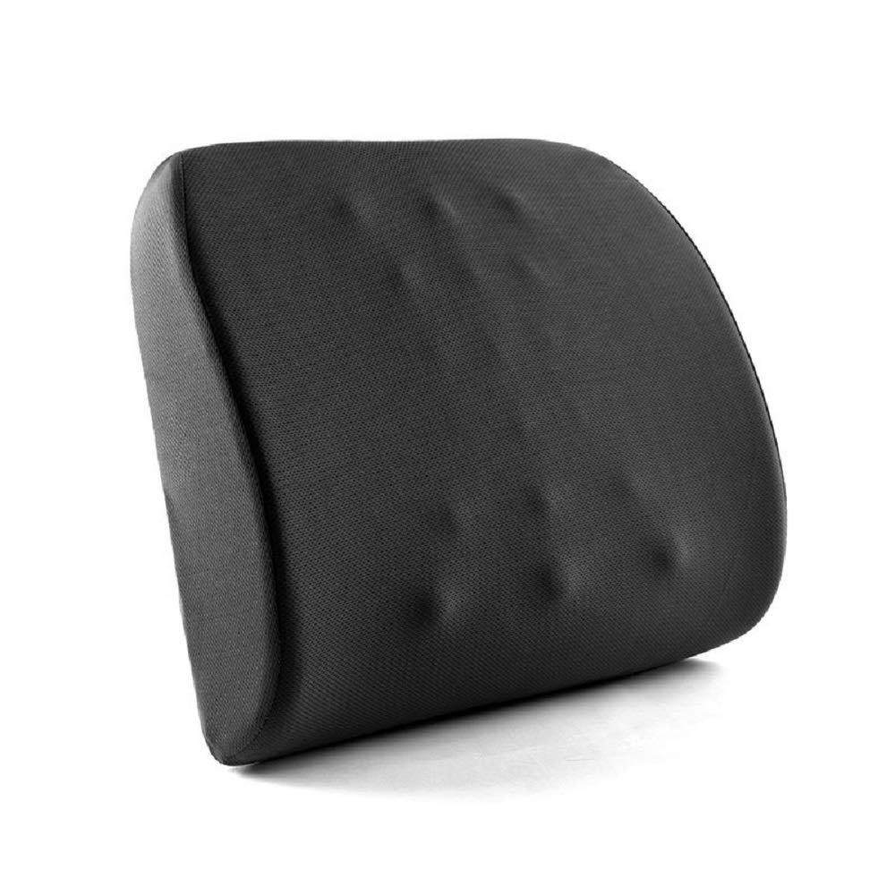 Amazon Office or Wheel Chair Back Massage Memory Foam Cushion Premium Car Lumbar Back Support Pillow For Lower Back Pain Relief
