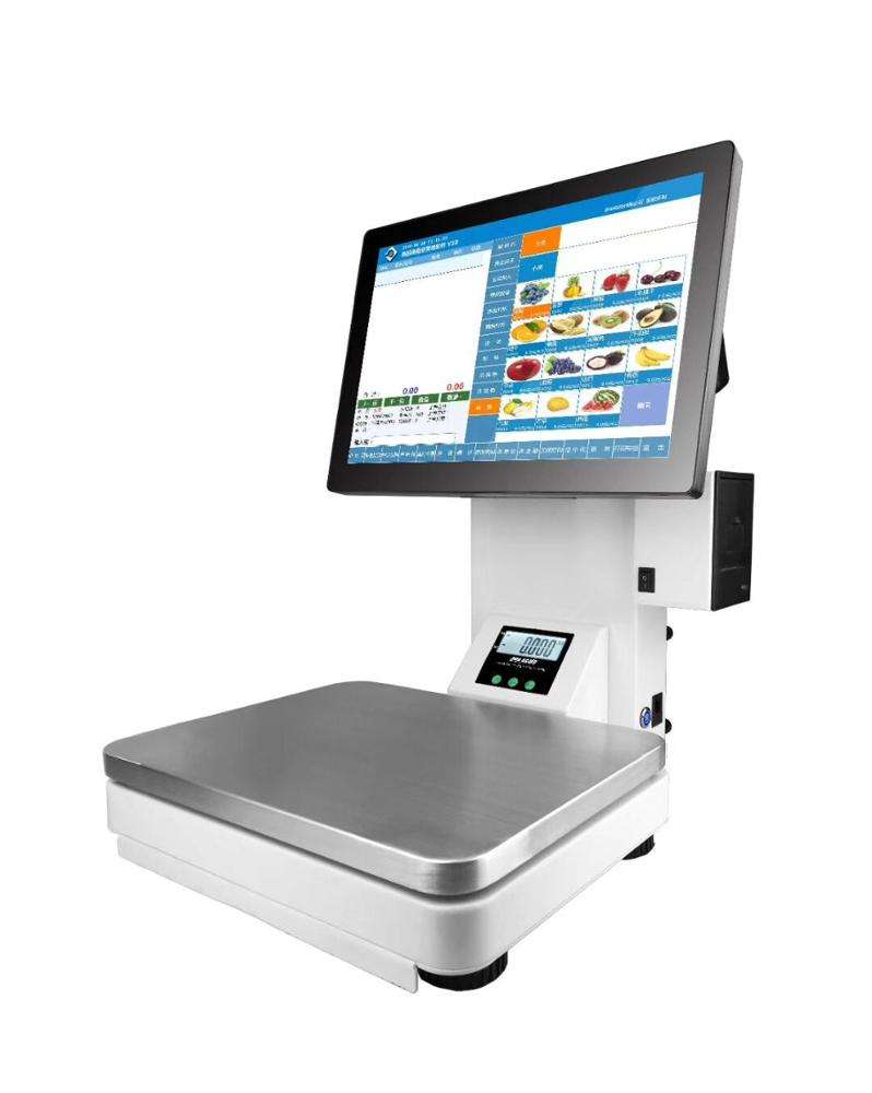 Alle in einem touchscreen pos skala supermarkt elektronische digital waage pos