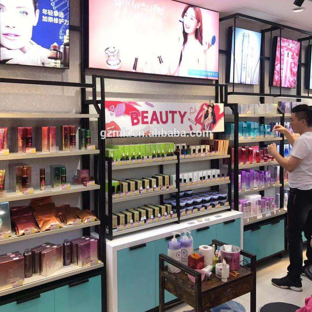 Cosmetic shop display beauty shop display cabinet decoration cosmetic shelf