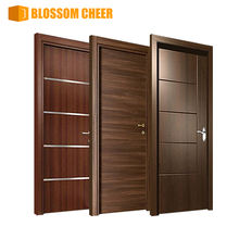 Modern wooden bedroom door design prehung melamine mdf house hotel room interior wood door with frames