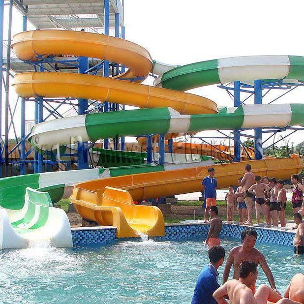 Theme Park Water Rides Adult Fiberglass Pool Water Slide