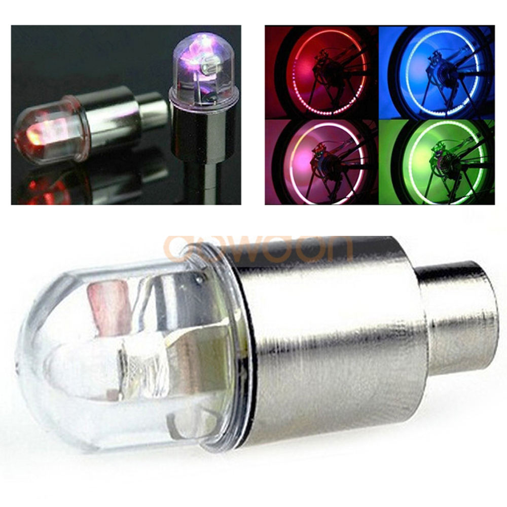 Motorcycle Tyre Wheel Light 4 Color LED Bike Cycling Car Metal Tyre Valve Light