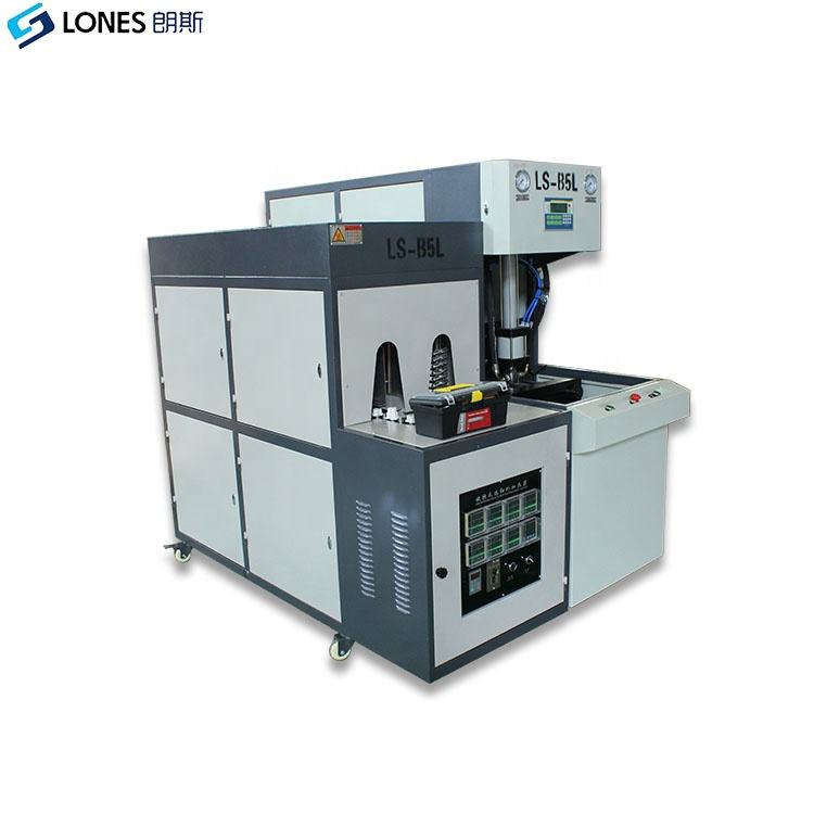 Selling LS-B5L extrusion blow moulding machine manufacturer for 1L 2L 2.5L 5L PET bottles 400BPH 1year warranty bottle blower