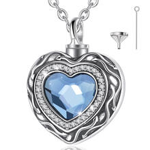 925 sterling silver keepsake heart shape urn memorial locket necklace pendant
