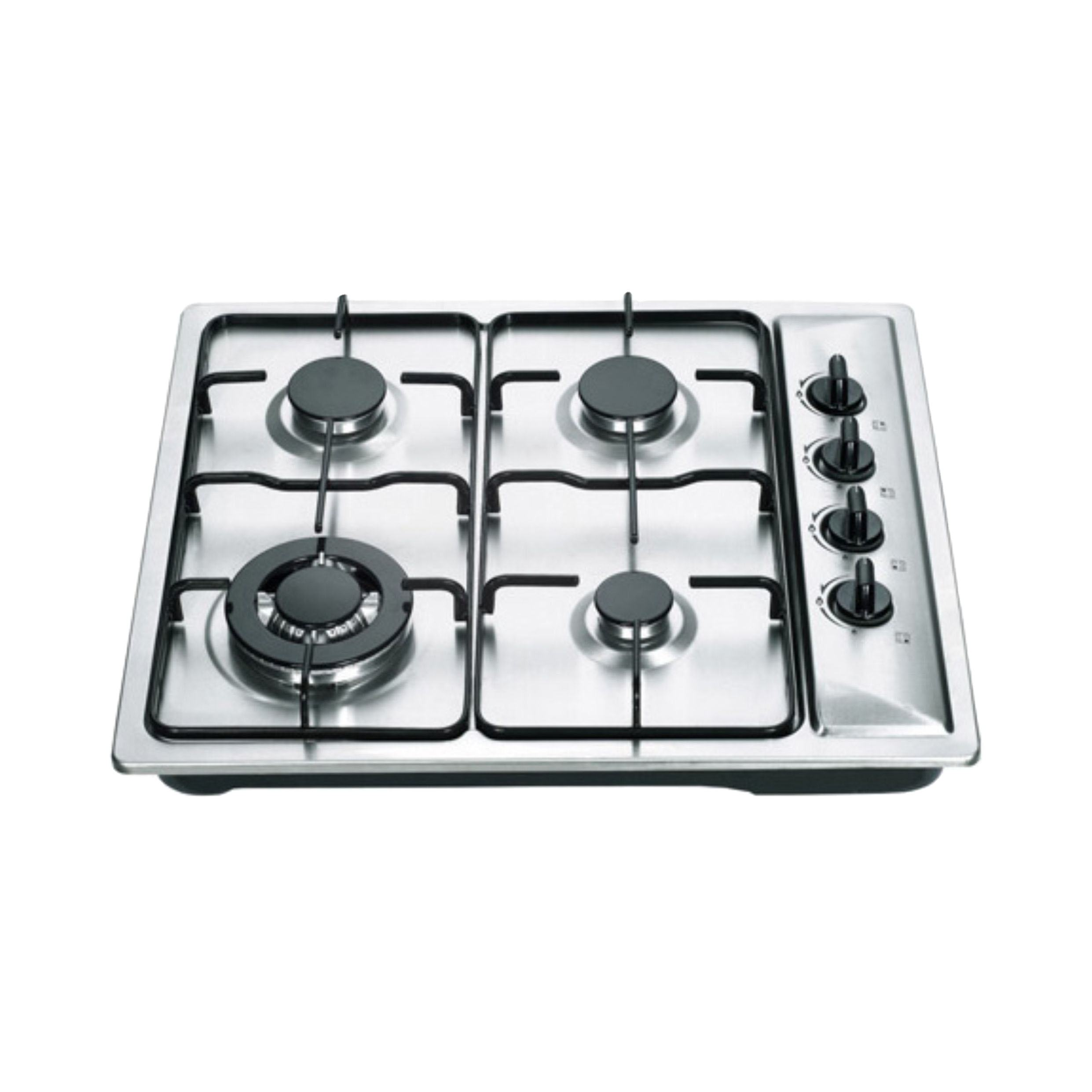 Chinese home appliance factory kitchen cooking 4 gas burner hobs with stainless steel materials