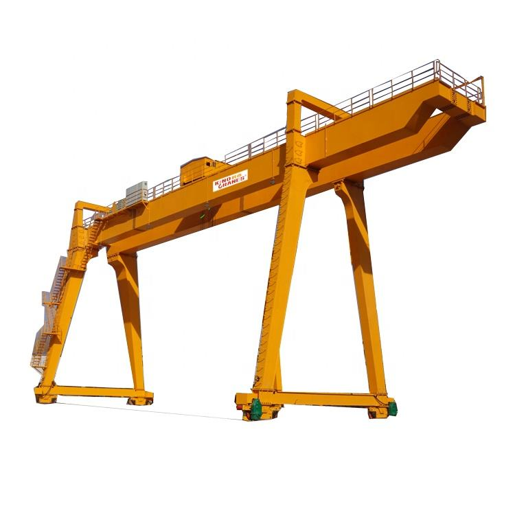 25 ton Factory use Cabin Control Double Girder Gantry crane Rail Mounted Goliath Crane for Sale