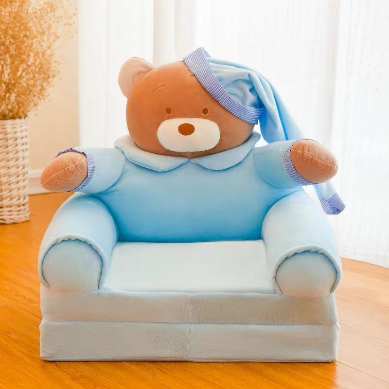 Baby Blue Plush Cartoon Blue Shaped Animal Armchair