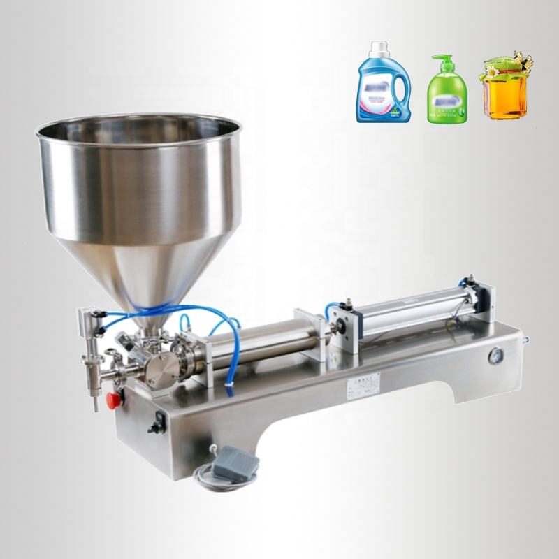 Semi-automatic Semi-automatic Single Head Paste Filling Machine Horizontal Honey Jam Paste Filling Machine