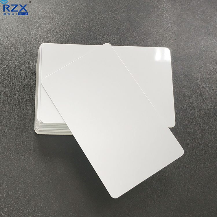 ISO14443A 13.56mhz NTAG 215 RFID NFC White Blank Card For Thermal Printing
