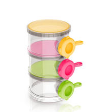 Food Grade Plastic 3 Layers Baby Formula Powder Milk Milk Powder Container, Milk Powder Dispenser