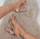 Big size 35-43 Women Heeled Sandals Bandage Rhinestone Ankle Strap Pumps Super High Heels 11 CM Square Heels Lady Shoes new