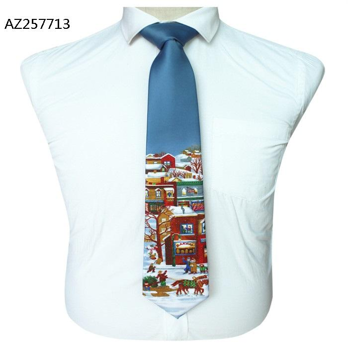 Men's Tie Microfiber Jacquard Christmas Marriage Tie Men's Dress Gift Tie Custom Logo AZ257713