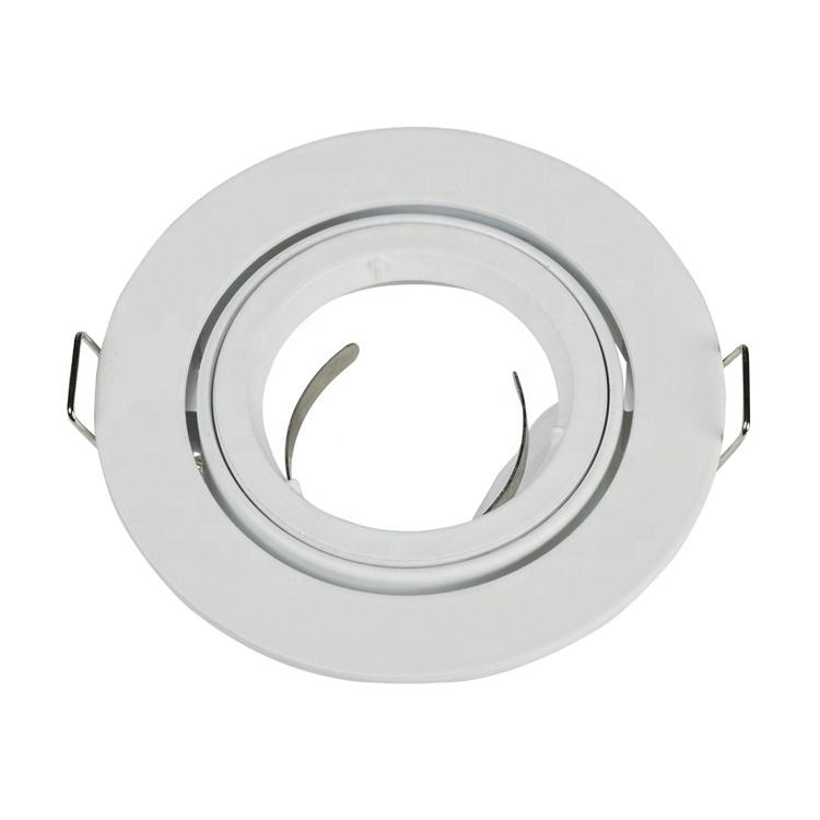Aluminum zink iron steel round gu10 mr16 fixture recessed LED downlight Spotlight frame