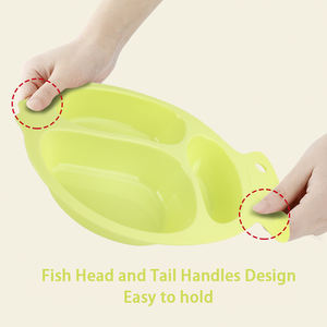 Wholesale Kids Dinner Plate Set Divided Plate Dinner Set Non Slip Baby Plate