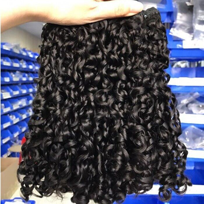 12A Super Double Drawn Funmi Hair Bundle Virgin Cuticle Aligned Hair Vendor Brazilian Pixie Curl Wholesale Human Hair Extension