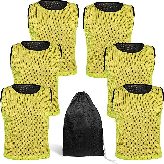 Reversível Malha Pack of 6 Basketball Jerseys <span class=keywords><strong>Lacrosse</strong></span> Tanque Top Adulto Adolescente Crianças <span class=keywords><strong>Juventude</strong></span> Team Sports Vest Scrimmage P
