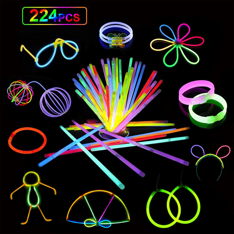 Waterproof Factory Wholesale Mix Color Neon Bracelet Necklace Glasses Light Stick Bulk 8 Inch Glow Stick Party Pack For Kids