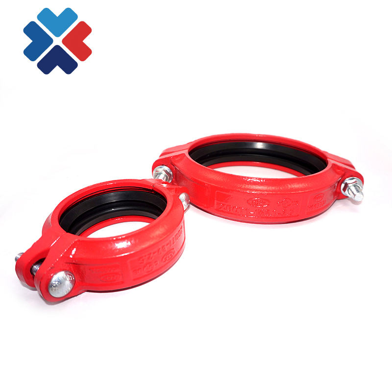 China Ductile Iron Grooved Pipe Fittings Casting Iron Coupling grooved fitting