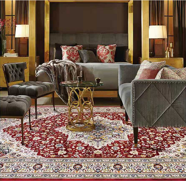 Modern floor carpets polyester heat transfer printed muslim turkish rugs for living room persian carpet