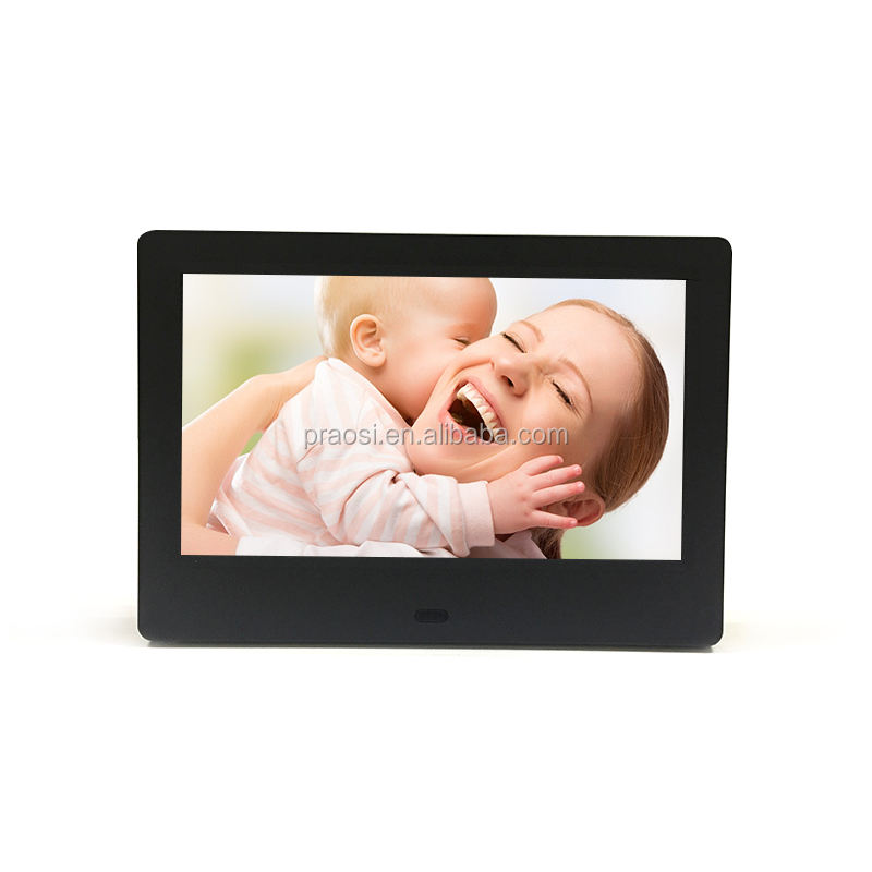 "24 months warranty wall mounted 800*480 7"" lcd advertising player DPF/7 inch sexy digital photo frame video free download"