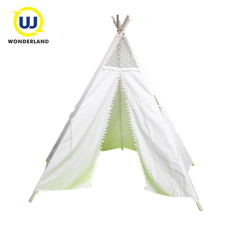 Party Playhouses Tent Kids Baby Frame Hout Teepee Wit