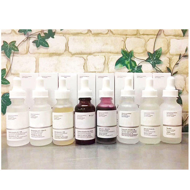 Free Sample Skin Care The Ordinary Niacinamide 10% + Zinc 1% 30ml AHA 30% + BHA 2% Peeling Solution Lactic Acid 10% + Ha