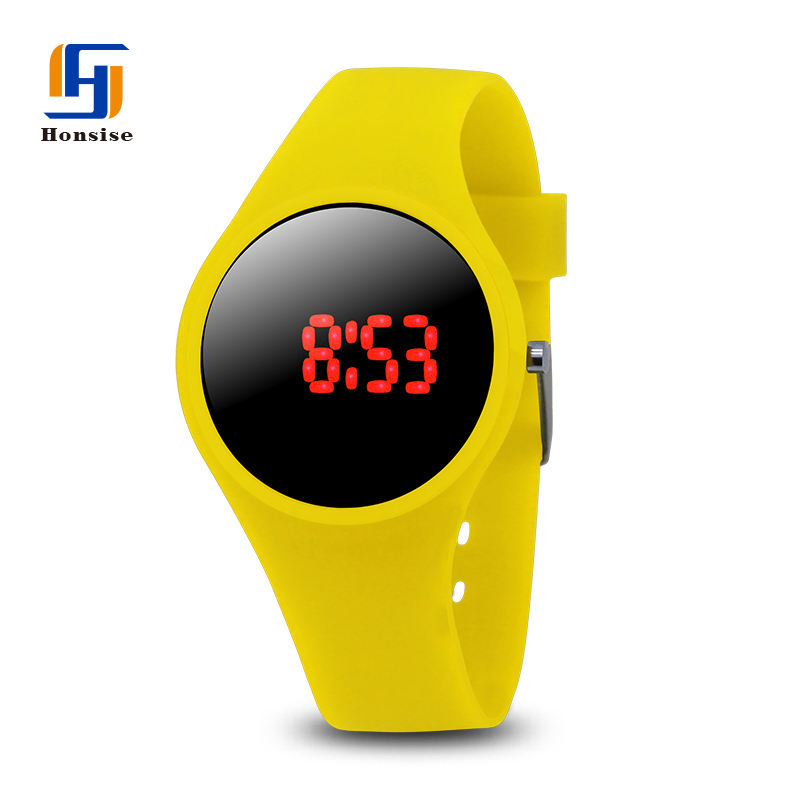 Custom Logo Silicone Rubber Watch Band Silikon Anak-anak Jam Tangan