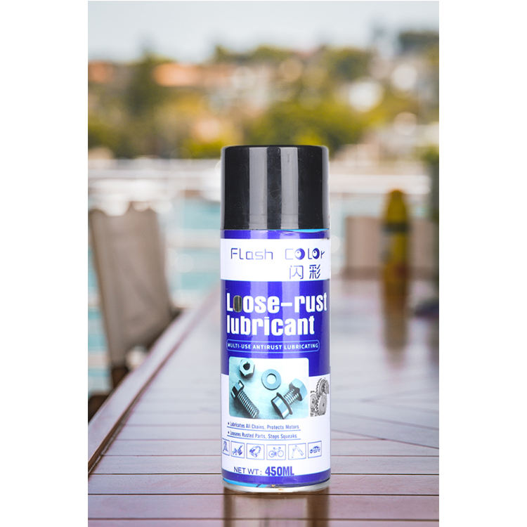 car care aerosol spray anti rust lubricant manufacturer promotion 450 mL car cleaner anti rust lubricant aerosol spray