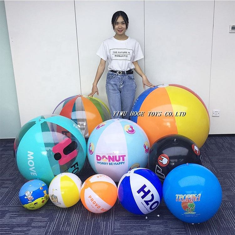 Top Quality Small Big Giant Various Size Color Inflatable PVC Logo Custom Beach Ball For Promotional Wholesale