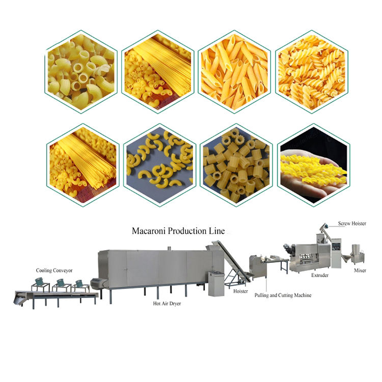 Automatic pasta machine pasta production line macaroni pasta making machine