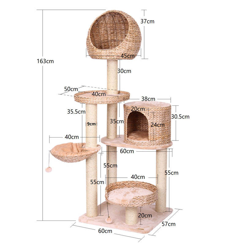 house tree house and tower cat scratching design tree
