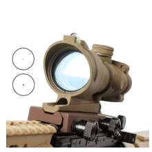 Hunting Riflescope Trijicons ACOG 1X32 Optics Red Dot Illuminated Glass Etched Reticle Tactical Optical Sight ar15