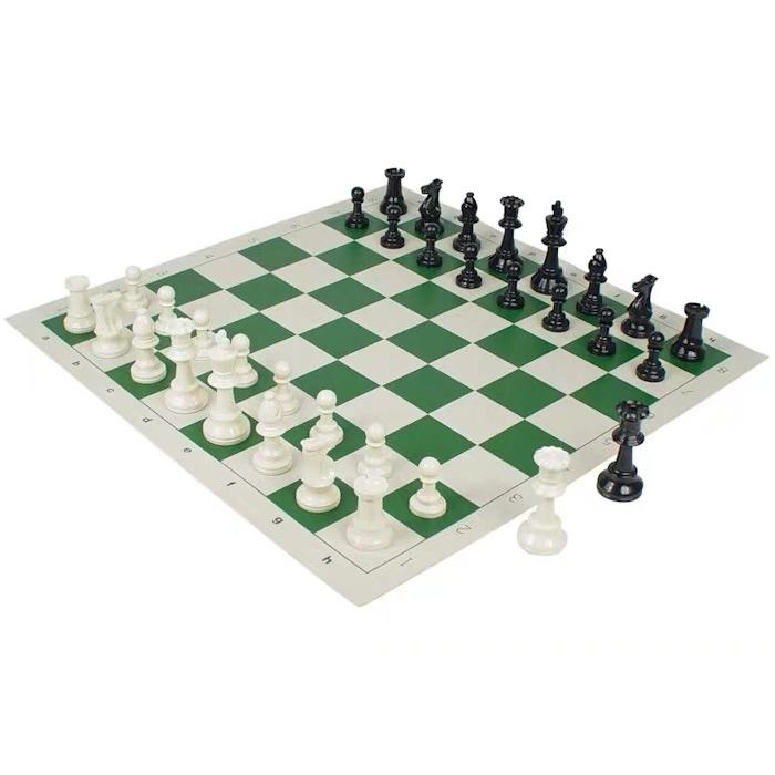Portable Easy To Carry Tournament Club Plastic Chess Pieces Board Game Sets