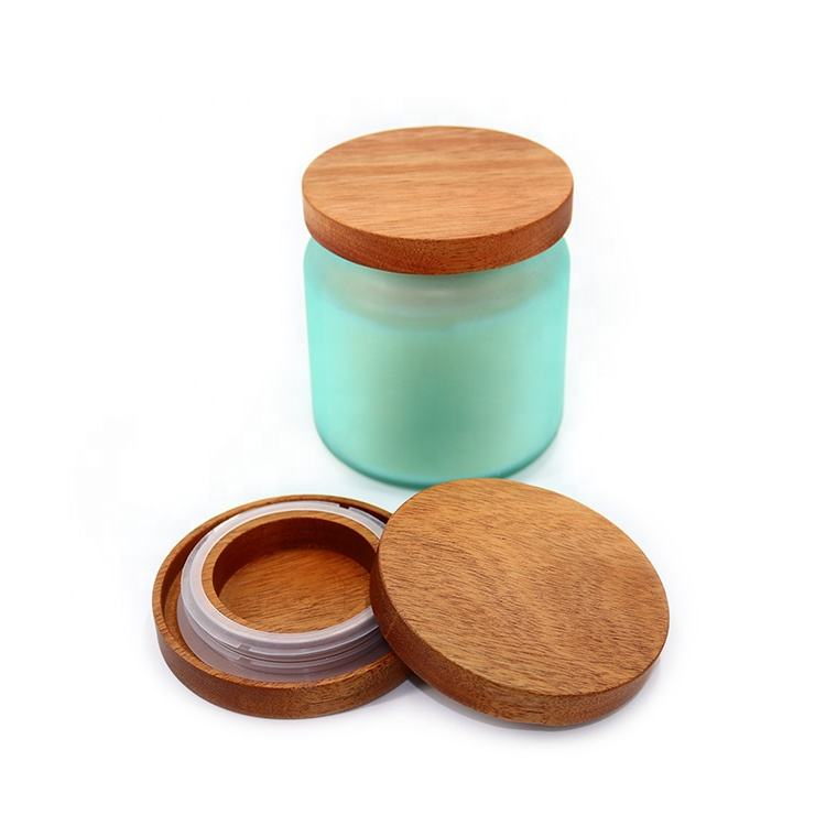 Vietnam high quality acacia wood candle cover round solid sealed wooden wax lid custom size storage wooden lid