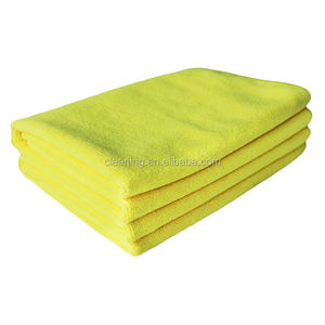 Super microfibre cleaning towel custom logo micro fiber cloth in bulk