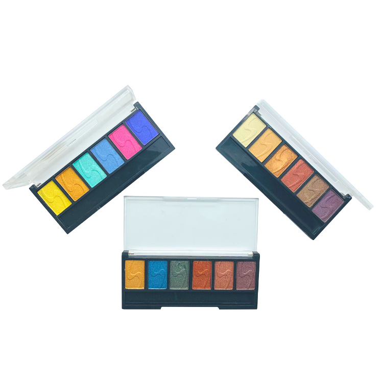 Qiaoyi personalizzato eye shadow palette <span class=keywords><strong>design</strong></span> unico eyeshadow palette private label pigmentato ISO22716/GMPC