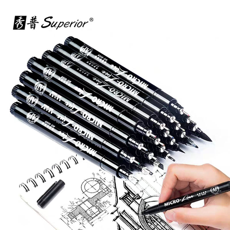 Hand Lettering Pens, Calligraphy Brush Pens Art Markers , Sketching, Drawing, Illustration, Scrapbooking, Black Ink Pen Set, 16