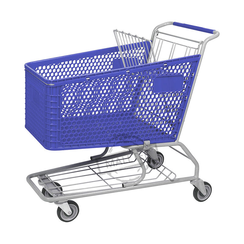 American Market 180L Big Grocery Store Plastic Shopping Trolley Cart