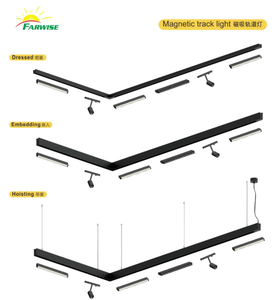 Linear strip magnetic track spotlights floodlight grille light chandelier for store supermarket office exhibition family
