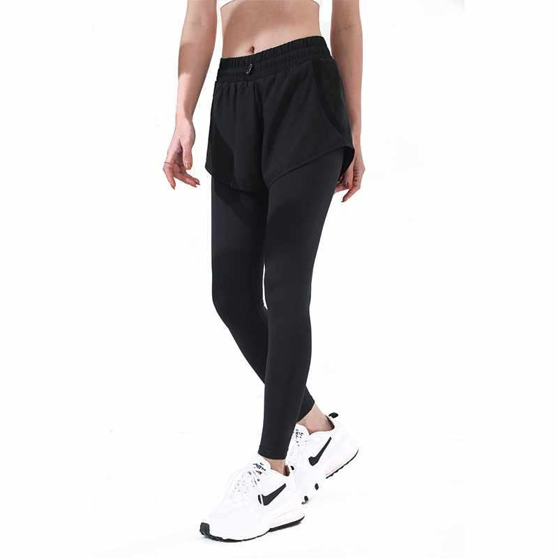 Women's Stretch Tight-fitting Running Culottes Outer Wear Quick-drying High-waist Compression Tight