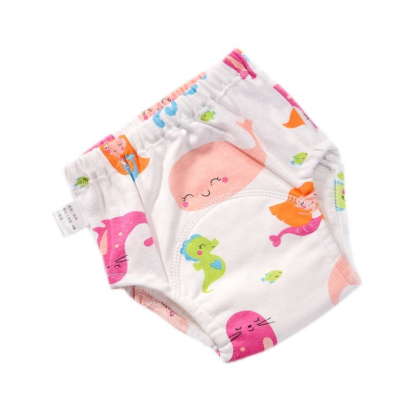Factory Hot Sale cotton Baby Toilet Training Underwear Panties Washable potty pants