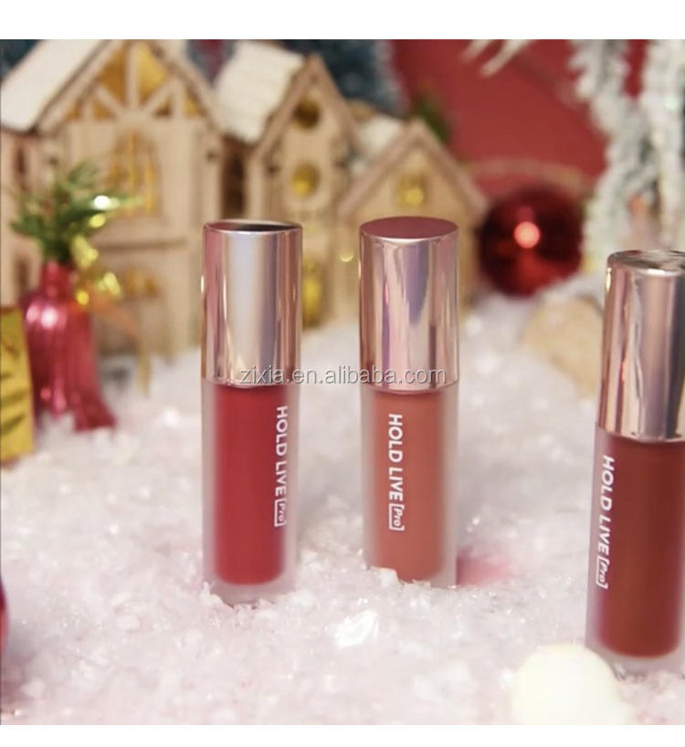 Hold Live lipgloss christmas gift liquid Lipstick set Qualified Glaze Beauty Send Best Friend Kit Gift Box Students Women's